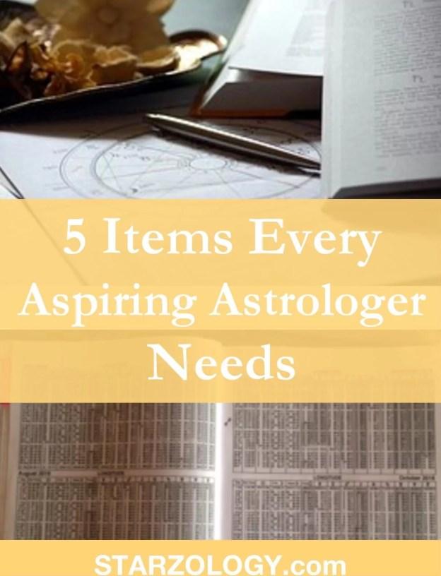 5 Items Every Aspiring Astrologer Needs