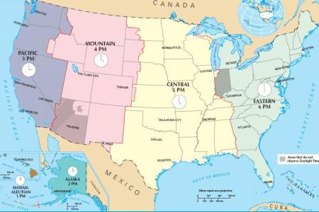 maps united states map time zones
