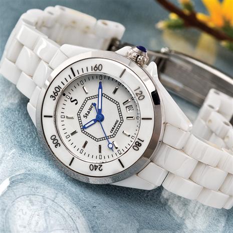 Stauer Ladies Swiss Movement White Ceramic Watch