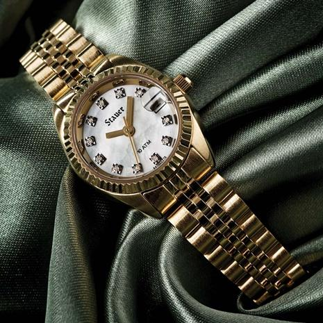 Stauer 11-Diamond Swiss Movement Ladies Watch