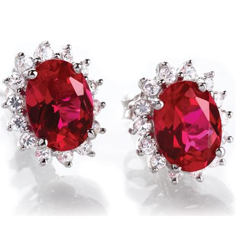 Scienza Crimson Passion Earrings (1 1/4 Ctw)