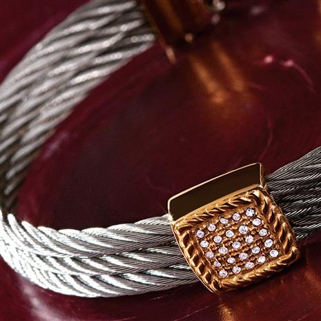 Corda DiamondAura & Steel Bracelet