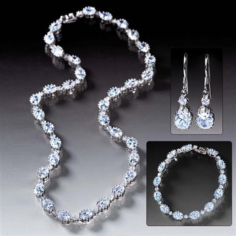 Diamondaura Rivier Bracelet, Necklace & Earrings Set