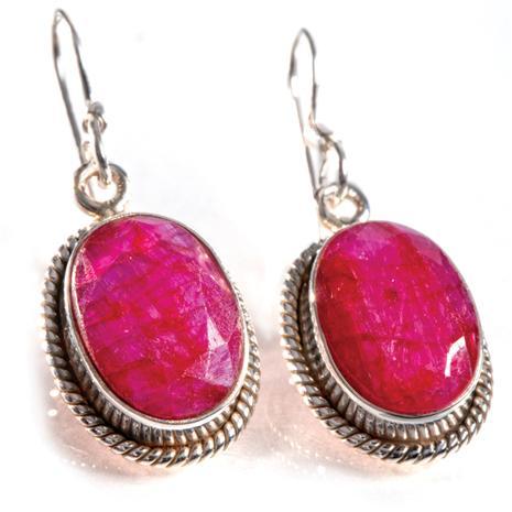 Sheba Natural Ruby Earrings