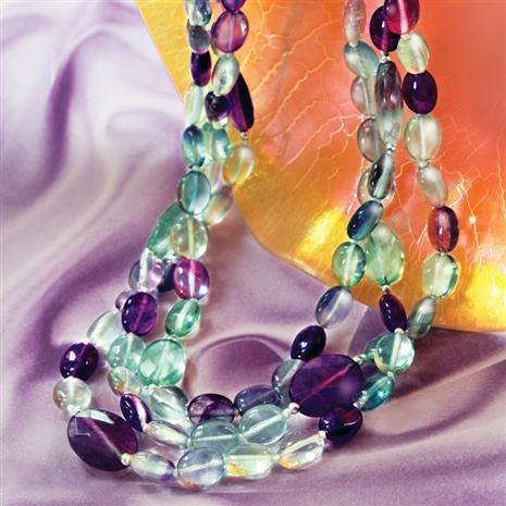Violette Fluorite Necklace