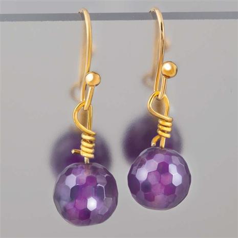 Atlas Amethyst Earrings