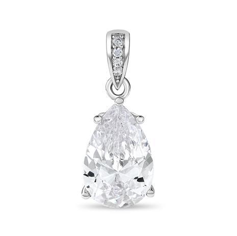 Diamond Aura Diamond White Teardrop Pendant