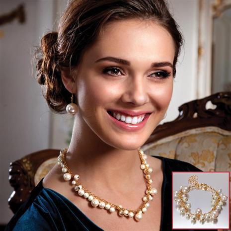 Verre Necklace, Earrings and Bracelet Set