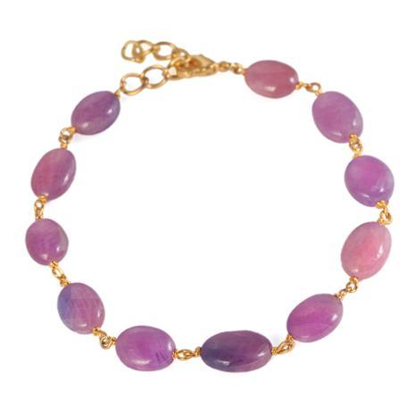 Spring Pink Sapphire Bracelet