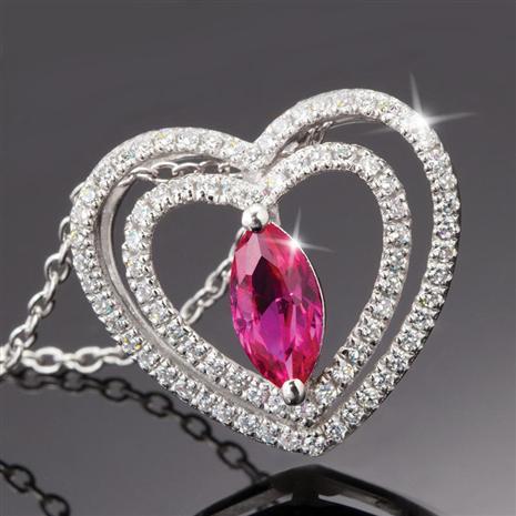 Amoretta Scienza Ruby Heart Pendant
