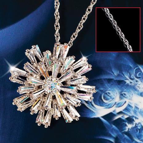 DiamondAura Silent Night Snowflake Pendant & Chain Set