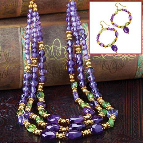 Flambeaux Necklace & FREE Earrings