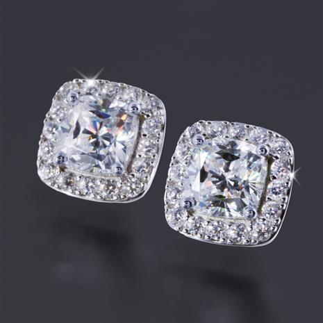 Diamond Aura Infinity Earrings