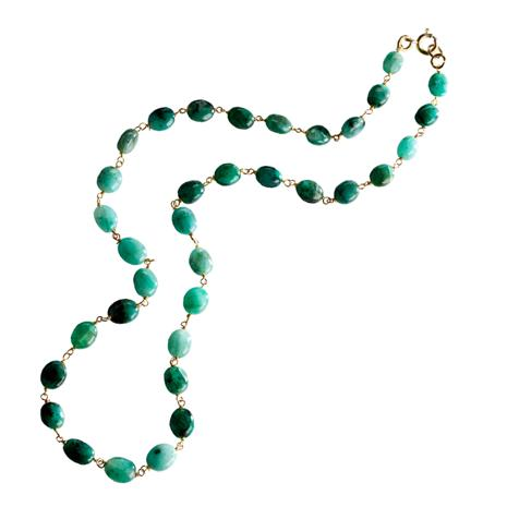 Zambian Emerald Mist Necklace
