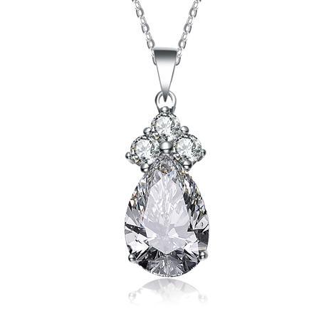 Royal Princess White DiamondAura Pendant