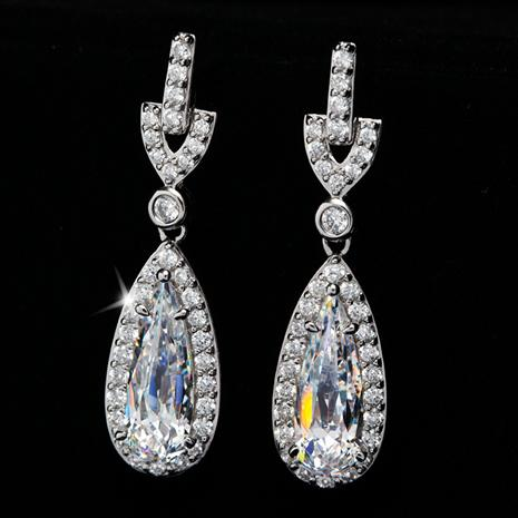 DiamondAura French Tear Drop Earrings