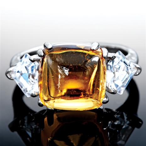 Honey Citrine Ring