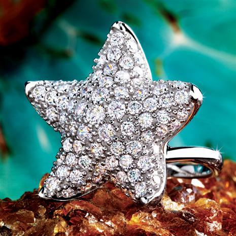 STERLING SILVER SEA STAR RING