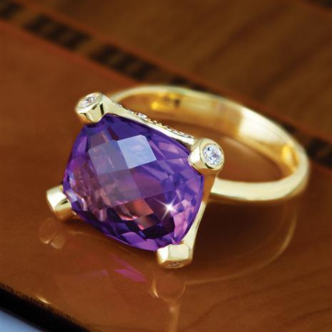 Regent Amethyst Ring
