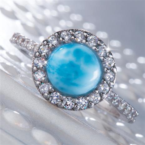 Caribbean Larimar Ring