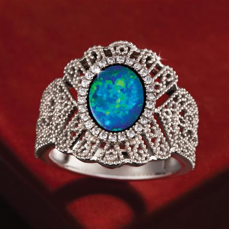 Opal Doublet Ring