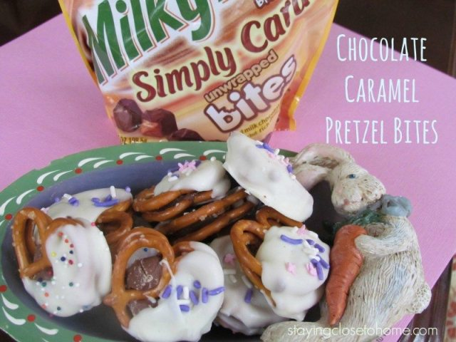 caramel Pretzel Bites  #EatMoreBites  #shop