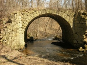 Historic stone bridge over Brown's Creek