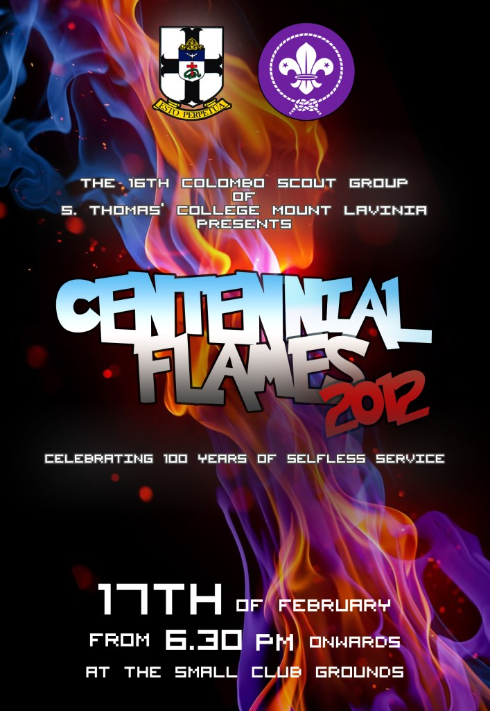 CENTENNIAL FLAMES 2012 OFFICIAL POSTER