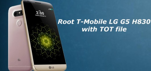 Root T-Mobile LG G5 H830 with TOT file
