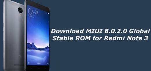 Download MIUI 8.0.2.0 Global Stable ROM for Redmi Note 3