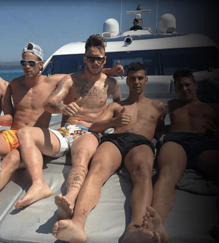 Marko Arnautovic relaxt auf einer Yacht