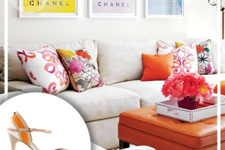 fashion home decor orange