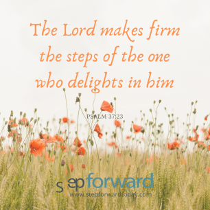 The Lord makes firm the steps of the one who delights in him. - Psalm 37:23