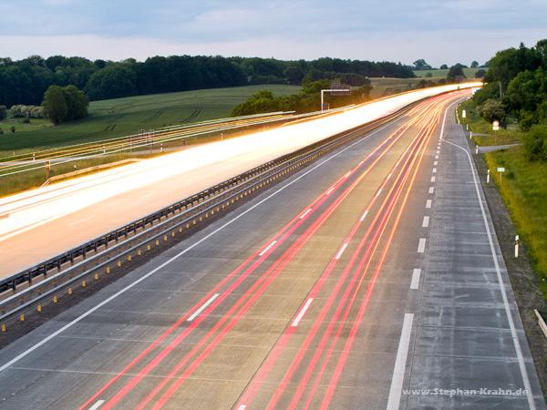 Die Autobahn A1 bei Bad Oldesloe