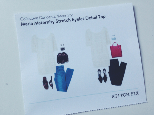 Maria Maternity Stretch Eyelet Detail Top // Stitch Fix Review // via Stephanie Howell #stitchfix #review #maternity