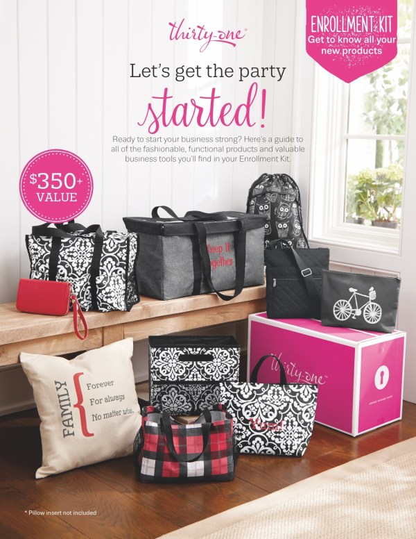 #ThirtyOne Enrollment Kit // via Stephanie Howell