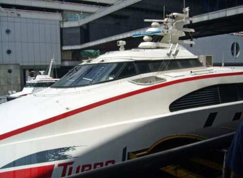 The Hydrofoil is the most popular means of getting to Macao