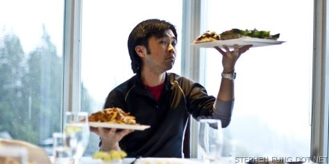 Stephen Fung vs. Fraiches Full Sized Burger Slider and Fries Challenge