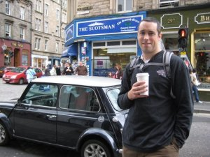 Standing in the streets of Scotland