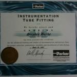 Certificate Tube Fittings