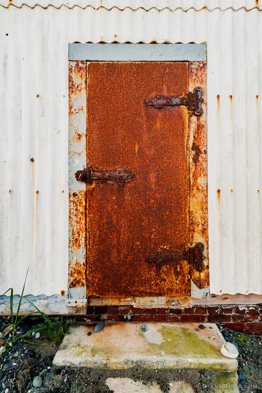 Rusty Iron Door, Fort Worden State Park, Washington, 2015