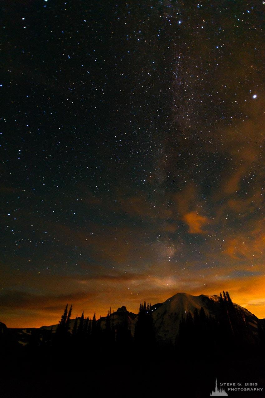 Stars Over Mount Rainier, Washington, 2016