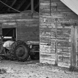 Old Barn and Tractor, Riverbottom Rd, Kittitas County, Washington