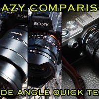 Crazy Comparison! Voigtlander 15 E Mount, Sony 16-35, Olympus 7-14!