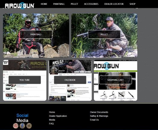 Airow Gun website