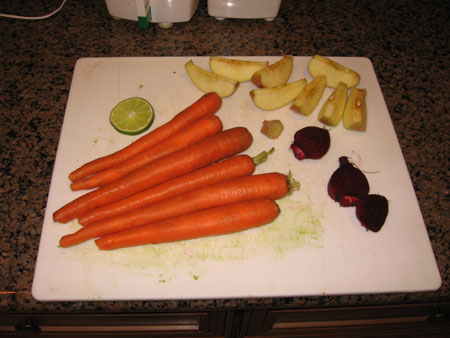 Raw food diet day 14 juice