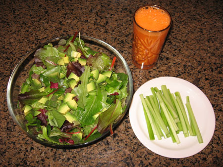 Raw food diet day 24 lunch