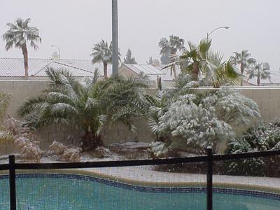 Snowing in Las Vegas