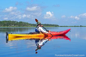 Kayaking in the Intracoastal Waterway