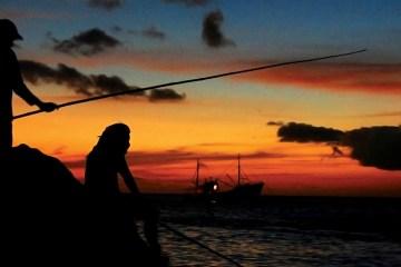 Fishing at Westrocks
